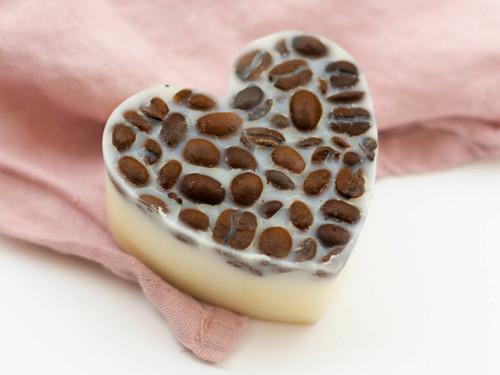 Coffee bean massage lotion bar