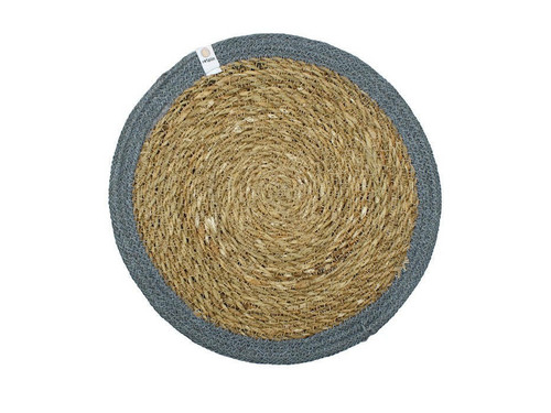 Seagrass and Jute placemat - Grey