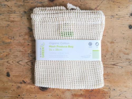 Organic Mesh Cotton Bag 34cm x 38cm