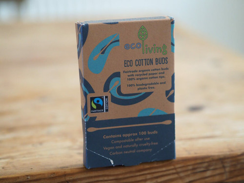 Organic Cotton and Recycled paper buds x 100