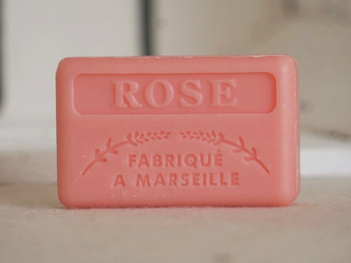 Rose french Marseille soap 125g