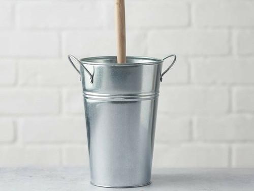 Plastic Free Toilet Brush Holder - Silver