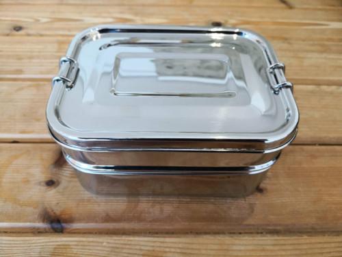 Rectangular 2 tier lunchbox leakproof