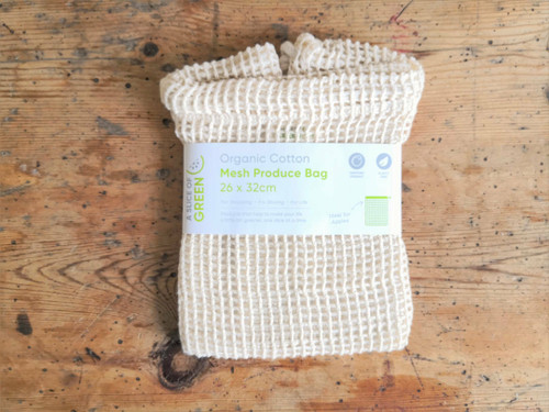 Organic Mesh Cotton Bag 26cm x 32cm