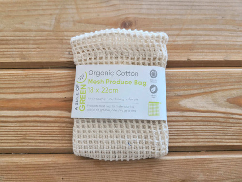 Organic Mesh Cotton Bag 18cm x 22cm