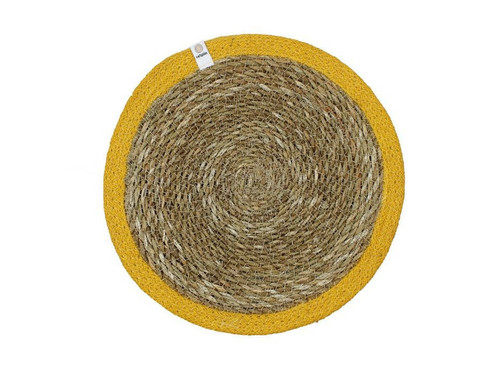 Seagrass and Jute placemat - Yellow