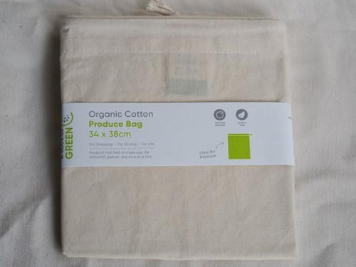 Organic cotton produce bag 34cm x 38cm