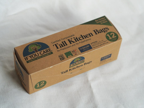 Compostable 49L Tall Kitchen Bags x 12