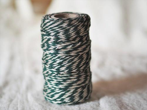 Green & Natural flax yarn