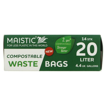 Maistic 20L compostable waste bags x 14