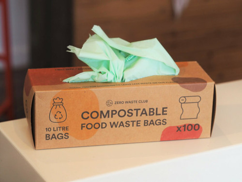 Compostable 10L food waste bags x 100