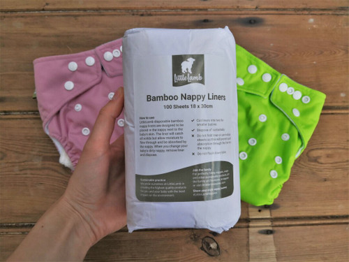 Biodegradable bamboo nappy liners x 100
