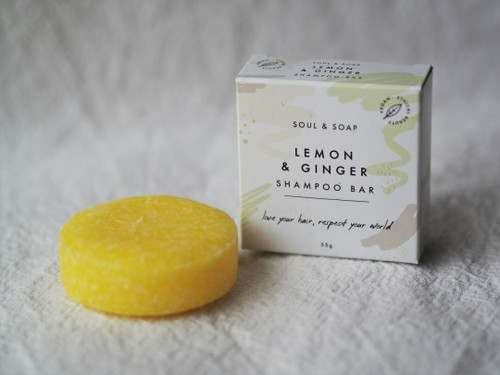 Lemon and Ginger Shampoo and Conditioner bar 55g