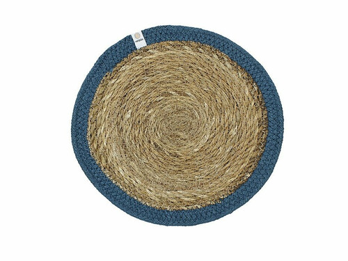 Seagrass and Jute placemat - Denim