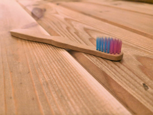 Childs bamboo toothbrush