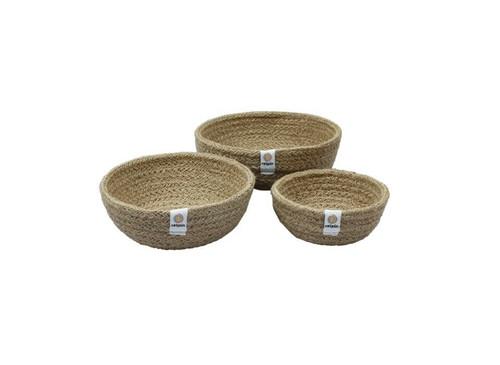 Small Jute basket storage bowls
