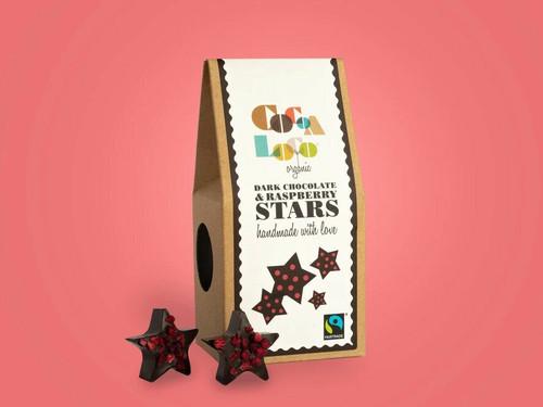 Cocoa Loco Dark Chocolate Raspberry Stars
