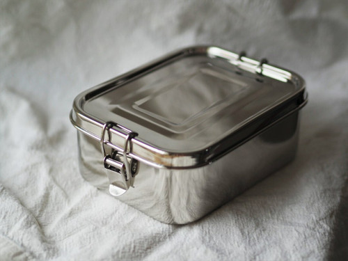 Stainless steel Deeper Rectangular lunchbox with leak seal