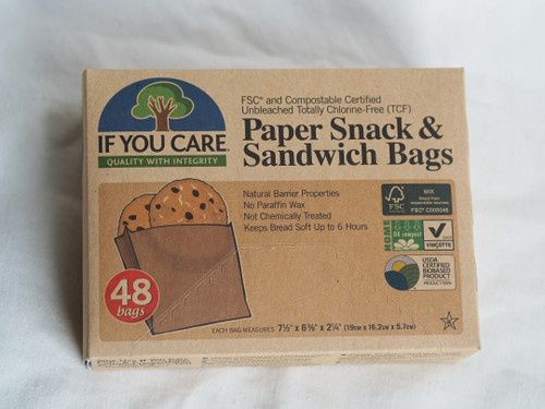 FSC Paper Snack and Sandwich Bags x 48