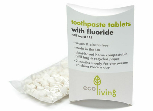 125 Ecoliving Toothpaste tablets FLUORIDE FREE