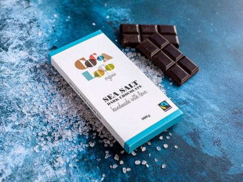 Cocoa Loco Dark Chocolate Sea Salt Bar