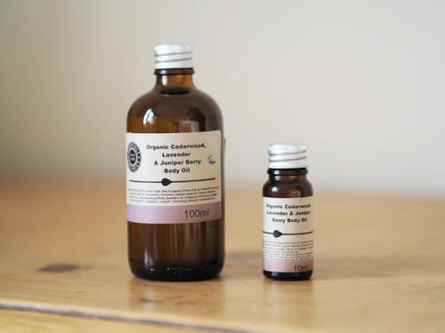 Organic Cedarwood, Lavender & Juniper Berry Body Oil