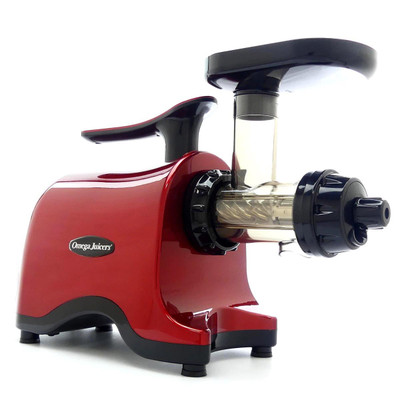 Omega TWN30R Twin Gear Juicer in Red