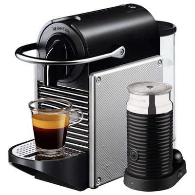 Magimix Nespresso Pixie with Aeroccino Coffee Machine in Silver