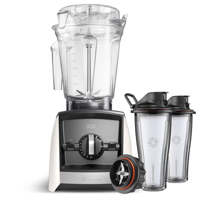Vitamix Ascent Series A2500i Blender in White with 600ml Blending Cup Starter Kit