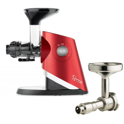 Sana Supreme 727 Juicer in Red with Sana Oil Extractor