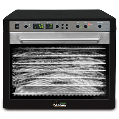 Sedona Combo 9-Tray Dehydrator with Stainless Steel Trays in Black