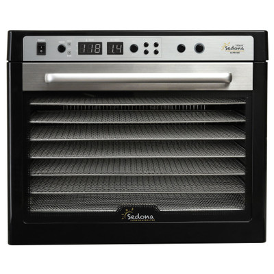 Sedona Supreme 9-Tray Commercial Dehydrator in Black