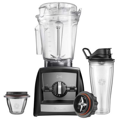 Vitamix Ascent 2500i Blender in Black with 225ml Bowl & 600ml Cup Starter Kit