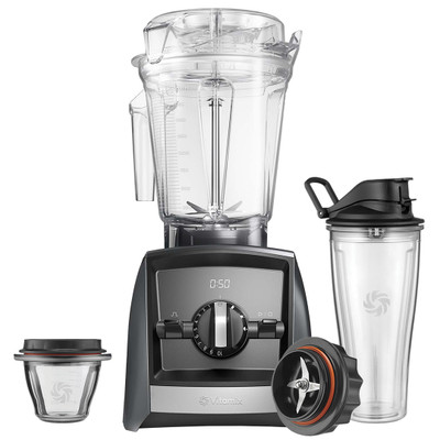 Vitamix Ascent 2500i Blender in Grey with 225ml Bowl & 600ml Cup Starter Kit
