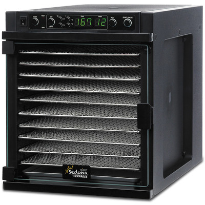 Sedona Express 11-Tray Dehydrator with Stainless Steel Trays in Black