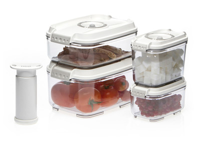 STATUS 5-Set of Small Rectangular Vacuum Containers