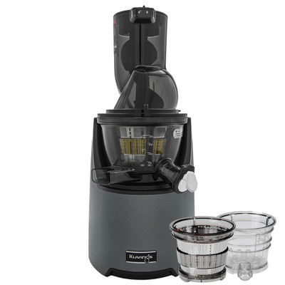 Kuvings EVO820 Wide Feed Juicer in Gunmetal with Accessory Pack