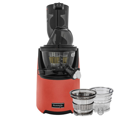 Kuvings EVO820 Wide Feed Juicer in Red with Accessory Pack