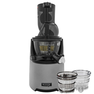 Kuvings EVO820 Wide Feed Juicer in Silver with Accessory Pack