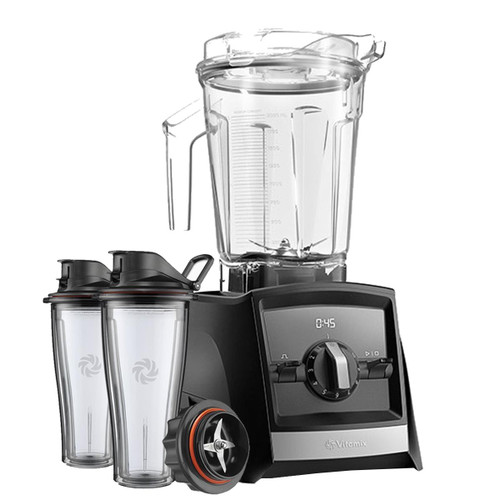 Vitamix Ascent 2300i Series Blender In Black with 600ml Blending Cup Starter Kit