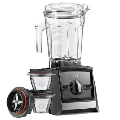 Vitamix Ascent 2300i Series Blender In Grey with 225ml Blending Bowl Starter Kit