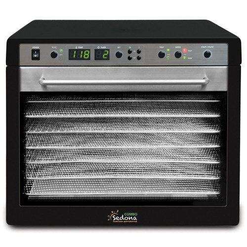 Tribest Sedona Combo 9-Tray Dehydrator with Stainless Steel Trays in Black