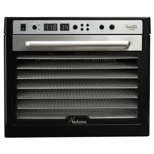 Tribest Sedona Supreme 9-Tray Commercial Dehydrator in Black