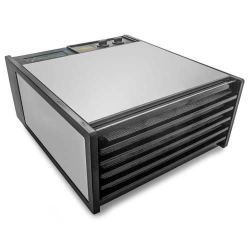 Excalibur 5-Tray Dehydrator with 26hr Timer in Stainless Steel