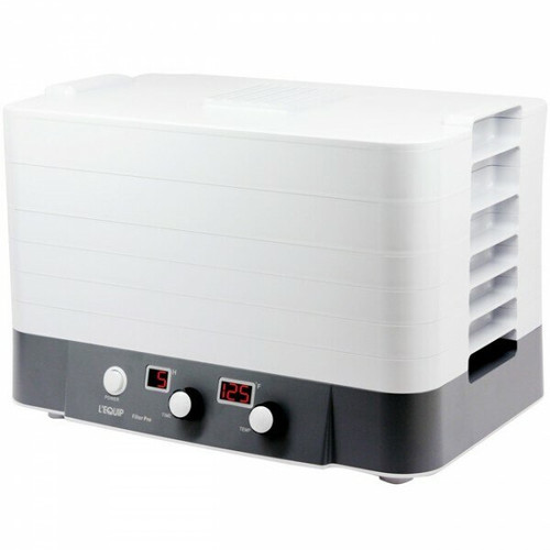 L'Equip FilterPro 6-Tray Stackable Dehydrator in White