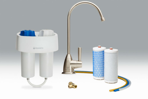 Aquasana AQ-4601 Premium Under Sink Water Filter System Brushed Nickel