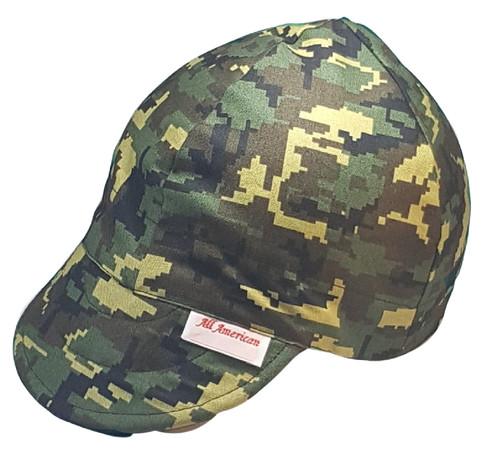 All American Hats Camo Digital Green Welding Cap Hat