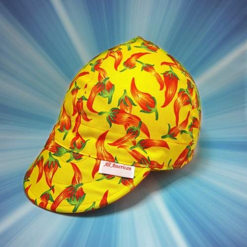 Chili Peppers Yellow Biker Cap