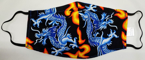 All American Face Masks - Blue Blooded Dragon