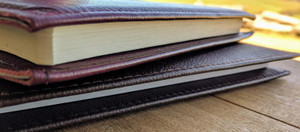 Leather Notebook Covers in Sleeve Style. Handcrafted from quality leather in Australia.